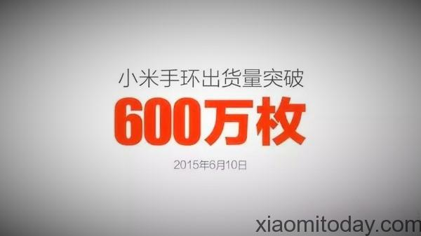 The Xiaomi Mi Band Has Exceeded 6 Million In Worldwide Shipments Xiaomitoday
