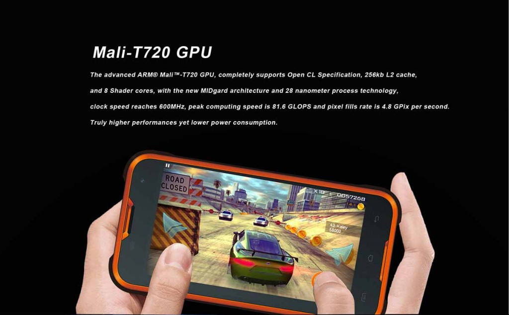 The Mali-T720 GPU transcends the gaming experience