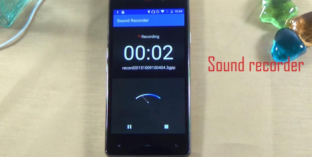 The sound recording option