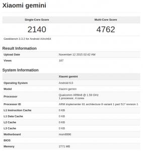 xiaomi today Mi5 benchmarks