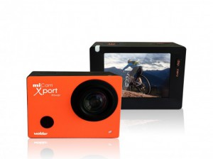 miCam Xport sports camera front and back