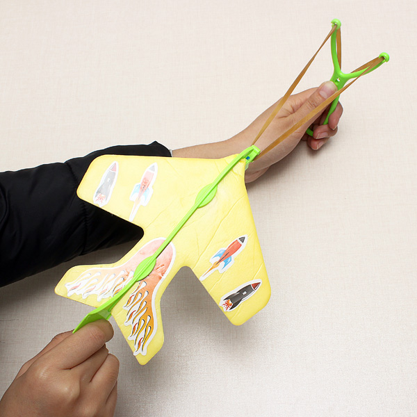Magic LED Slingshot Plane educational toy