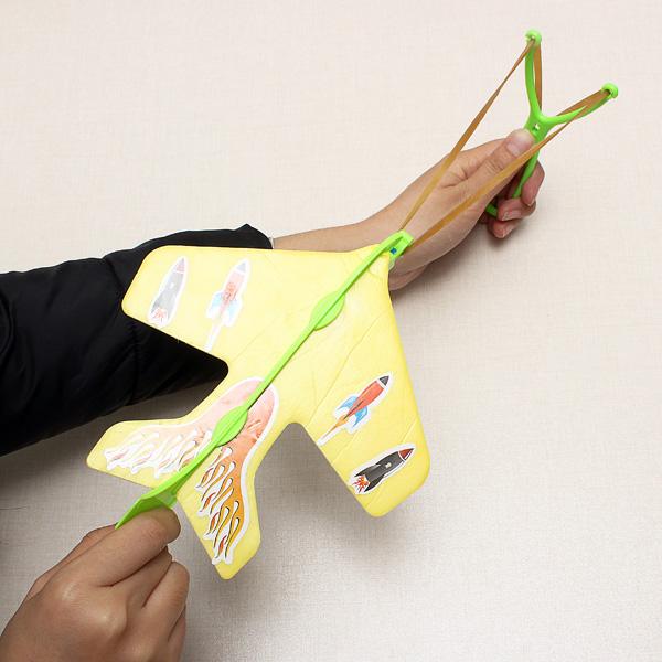 Magic LED Slingshot Plane educational toy