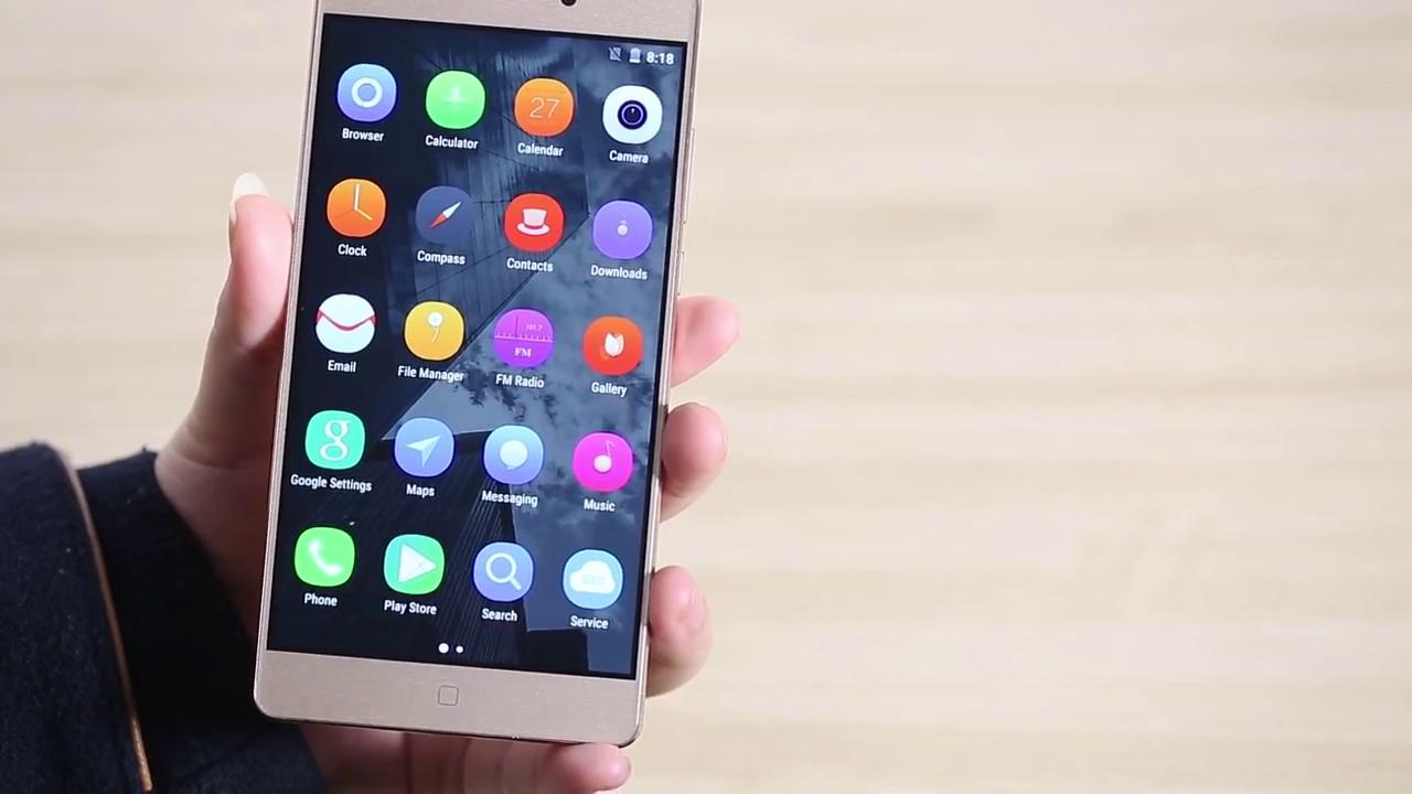 Elephone M3 menu icons