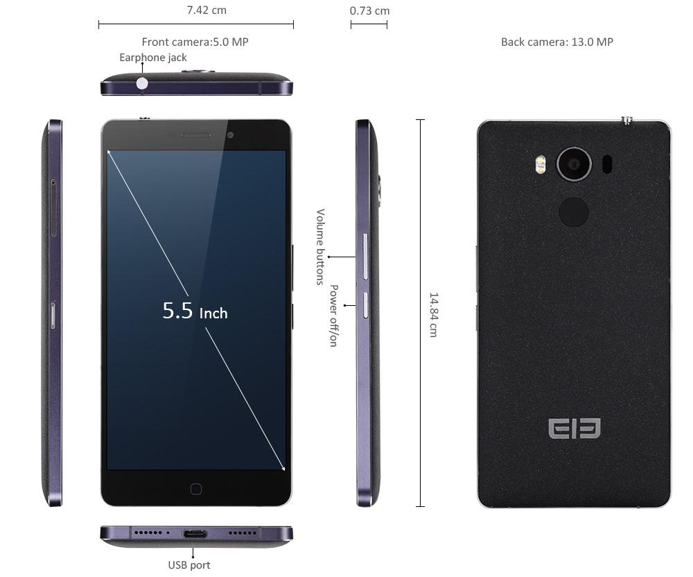 Elephone P9000 dimensions