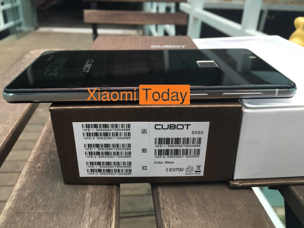 Casing and smartphone Cubot S550