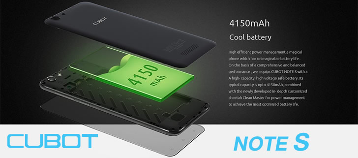 Cubot Note S Battery feature