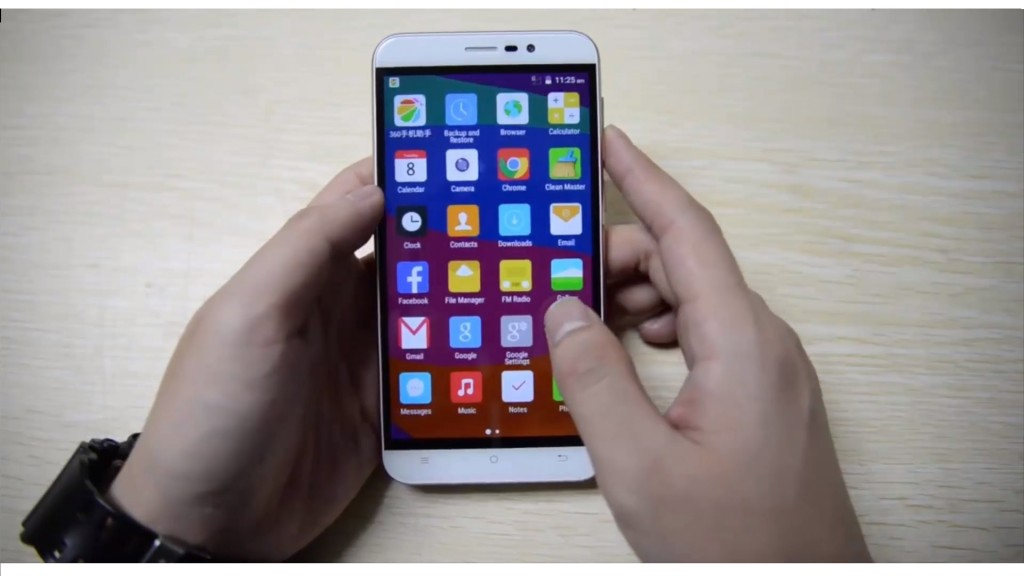 The display of Cubot Note S at front, turned on