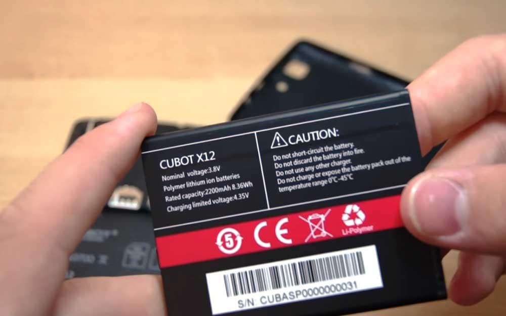 Cubot-X12-Battery