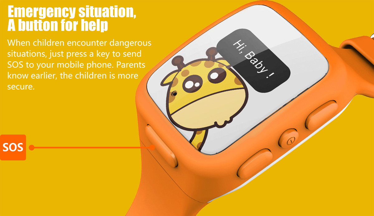 Special function of the watch enables child to instantly contact you