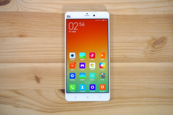 display of the Xiaomi Mi Note