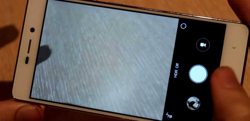 Xiaomi Redmi 3 Camera Interface