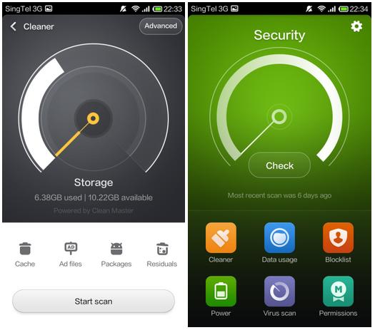 Security app - storage
