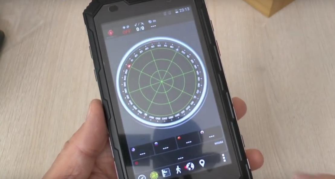 Compass feature of the Conquest S8 smartphone