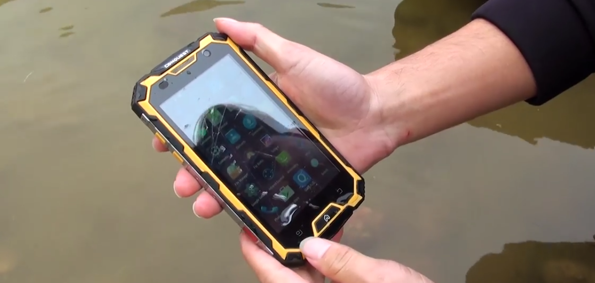Successfully tested waterproof feature of the Conquest S8 smartphone