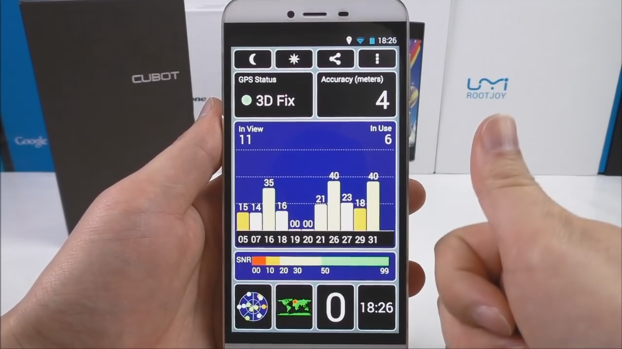 Checking connectivity features of the Cubot x10