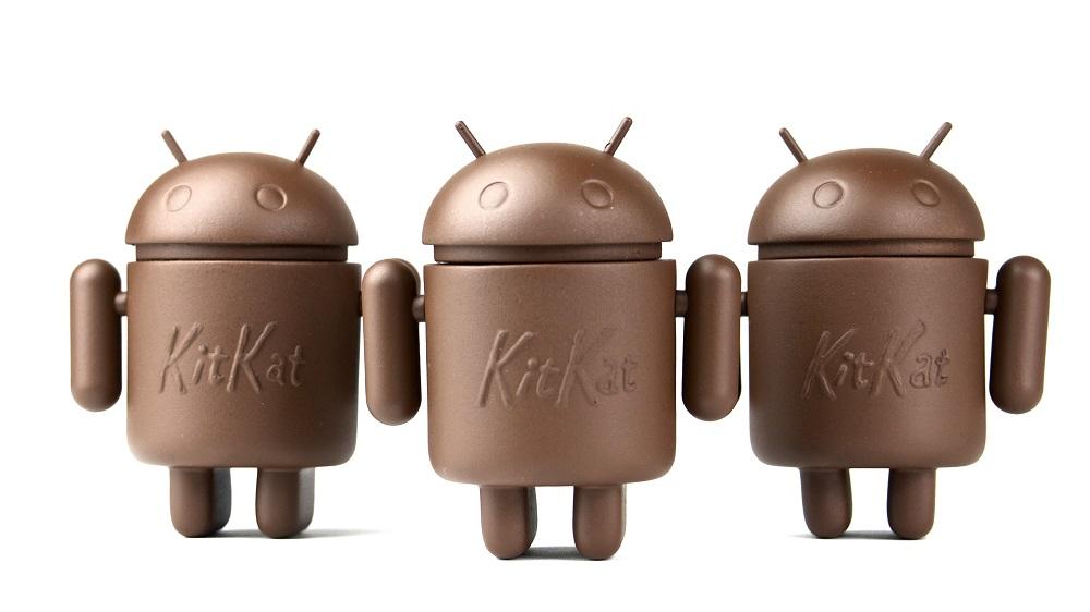 UIMI U5 Andoid logo, three chocolate androids on a white background.