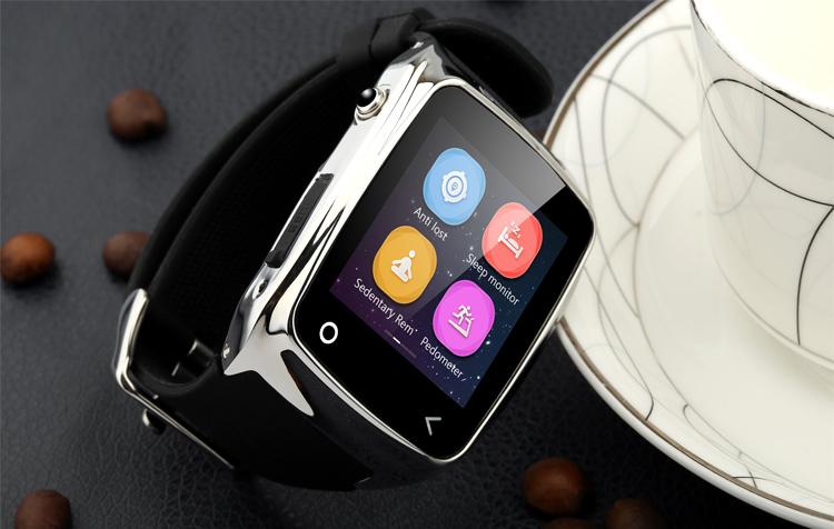 iRadish i8 Smartwatch feature: a closeup of the watch next to coffee mug