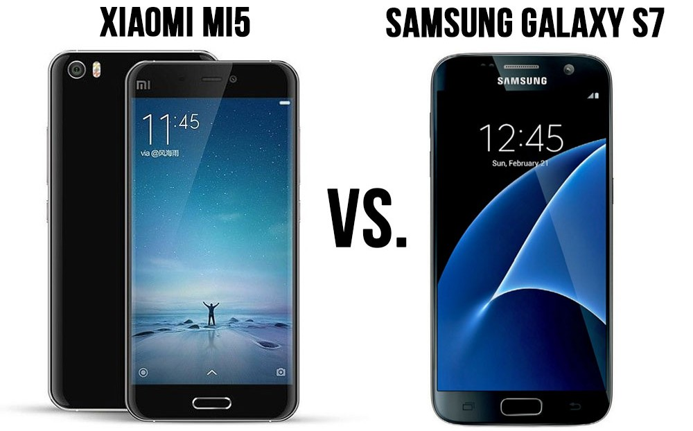 Differences Between Samsung Galaxy S7 and Xiaomi Mi5