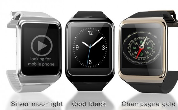 Three different colors of the Rwatch R10 Silver Moonlight, Cool black and Champagne gold