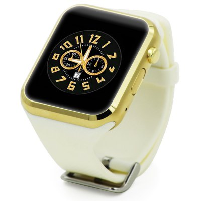 GD19 smartwatch (white & gold) on the white background.