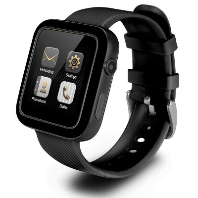I9 smarwatch with black watch strap and 1.54-icnh display