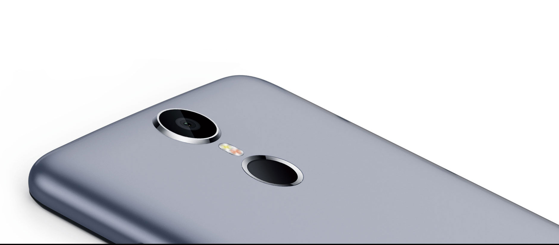 Ulefone Vienna camera shown, grey phone on a white background.