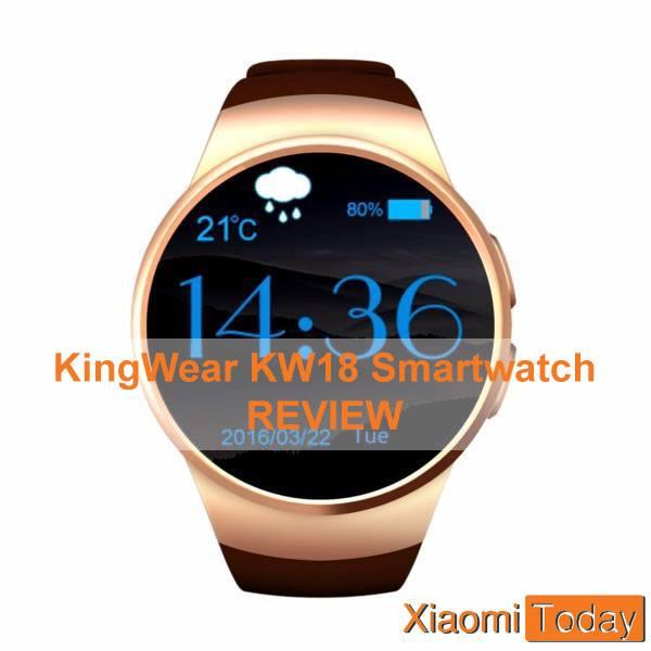 KingWear KW18 Smartwatch on the white background