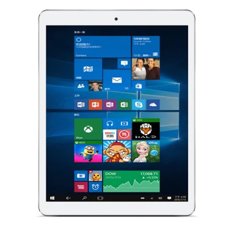 teclast x98 plus ii promotional picture showing the windows 10 on the