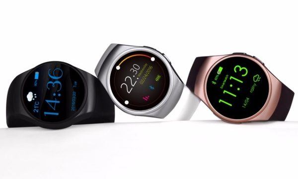 KingWear KW18 Smartwatches in three colors on the white background
