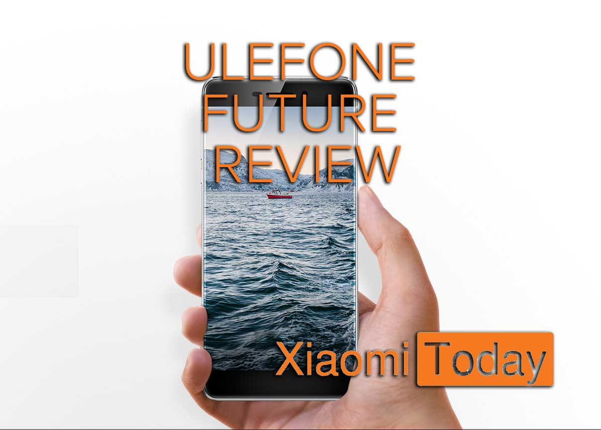 Ulefone Future promo picure, phone held in hand, white background