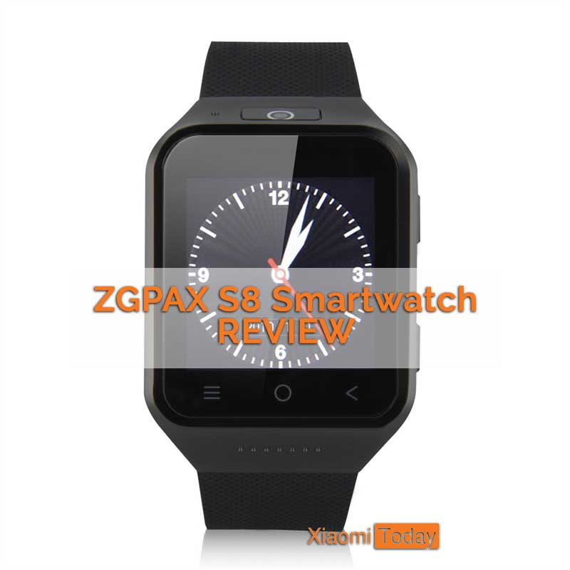 ZGPAX black smartwatch on the white background