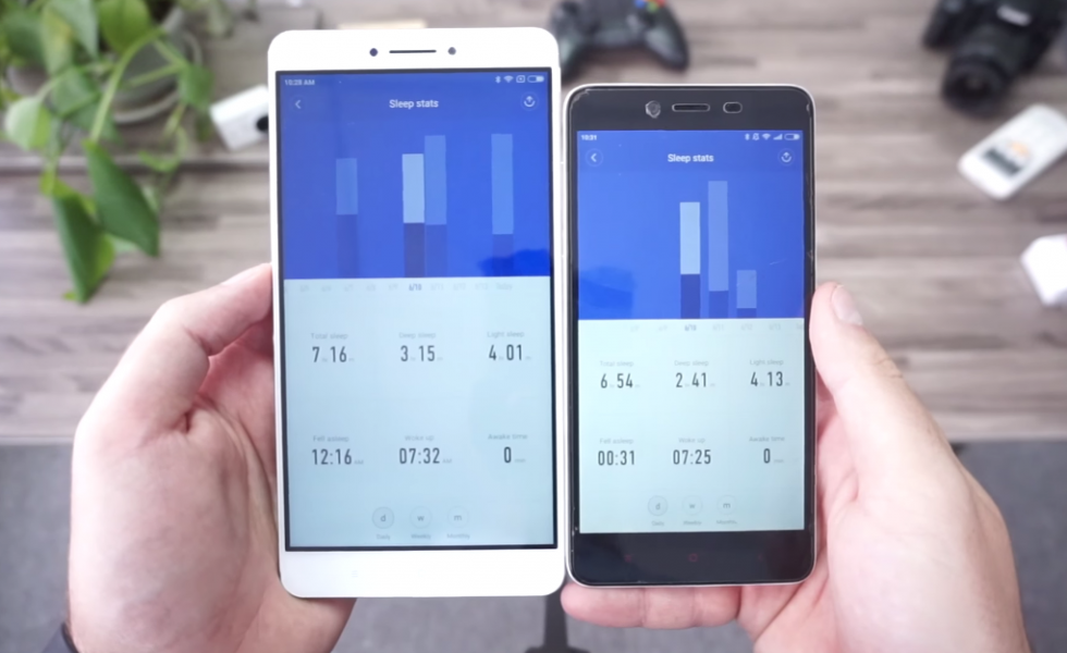 Xiaomi Mi Band 2 VS Mi Band 1s – App 2