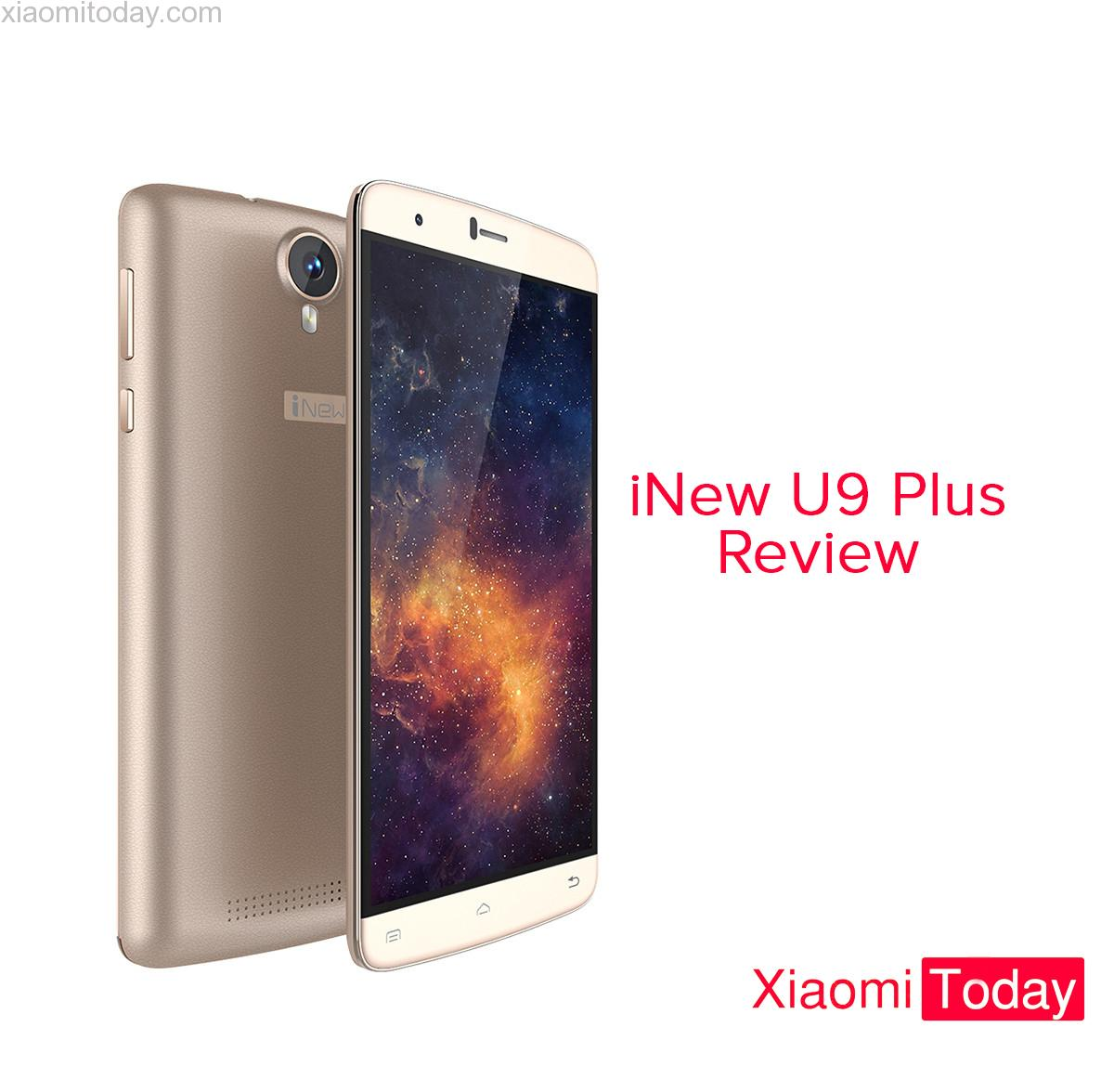 iNew U9 Plus - phablet against a white background. Nebula wallpaper on the display.