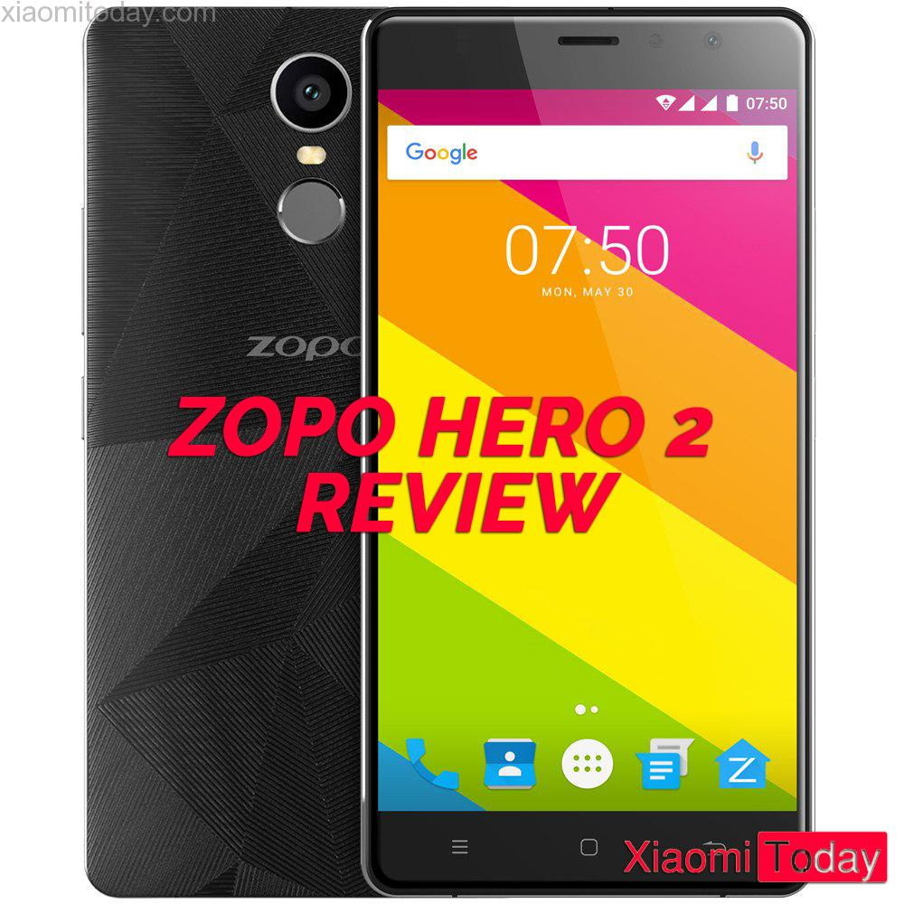 ZOPO Hero 2 pictured against white background from both sides.