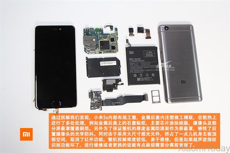 Xiaomi Mi 5s Teardown
