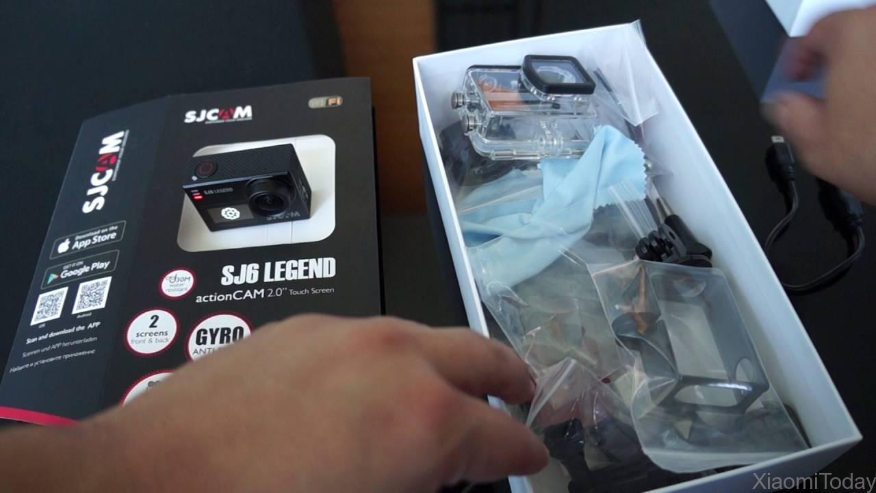 SjCam SJ6 Legend Camera Packaging Contents