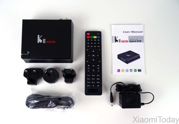 KII Pro TV Box Package Accessories