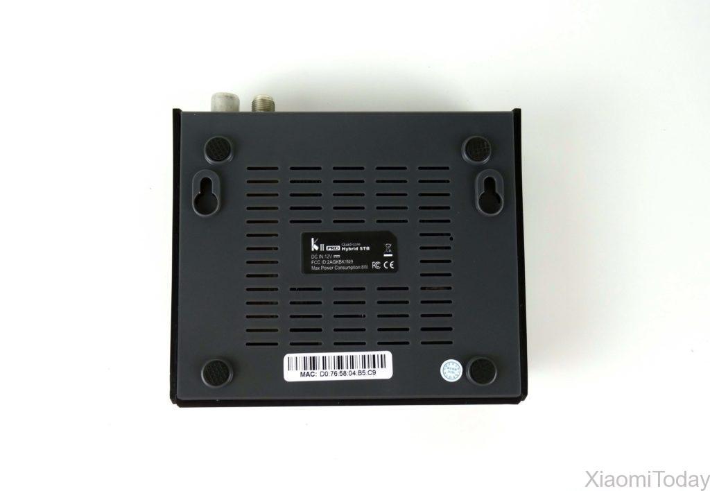 KII Pro TV Box Underside Design