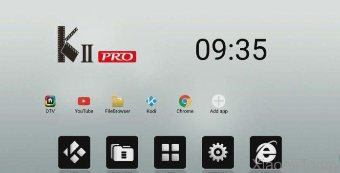 KII Pro TV Box User Interface