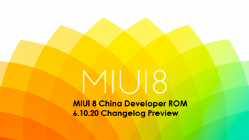 MIUI 8 China Developer ROM 6.10.20 Changelog Preview