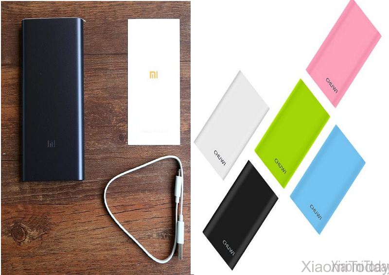 Xiaomi Mi Powerbank 2 10000mah vs Chuwi Hi-Power 10050mah Powerbank Design