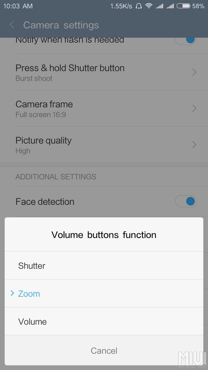 Xiaomi Mi Selfie Stick Wired Edition Software Settings