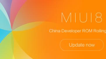 MIUI 8 China Developer ROM 6.11.10