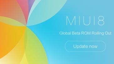 MIUI 8 Global Beta ROM 6.11.10