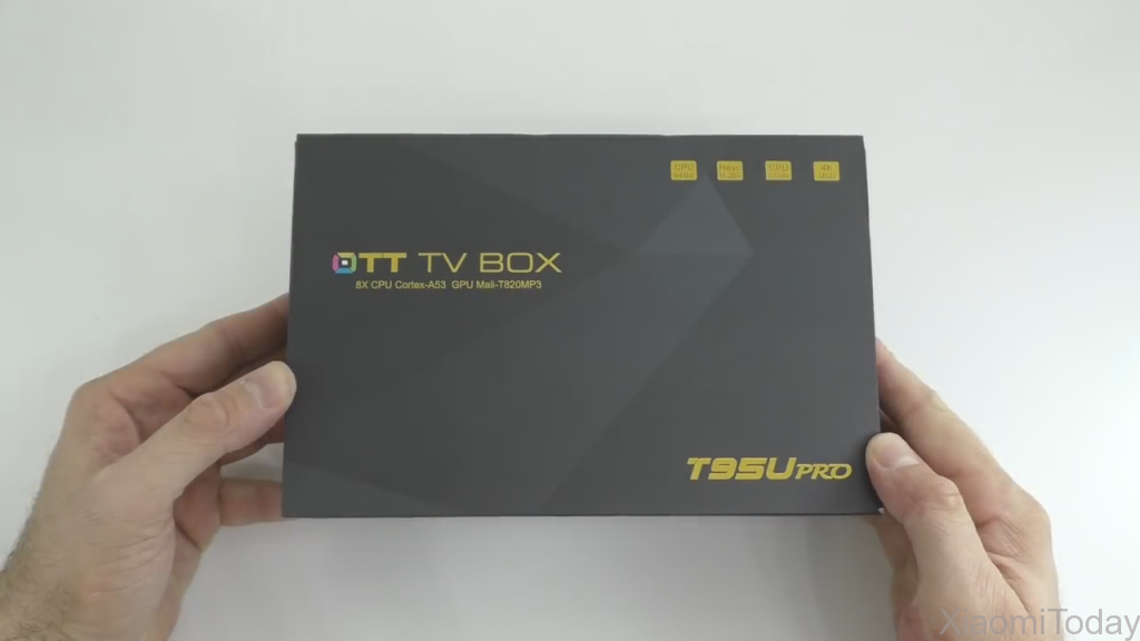 Sunvell T95U Pro TV Box Packaging