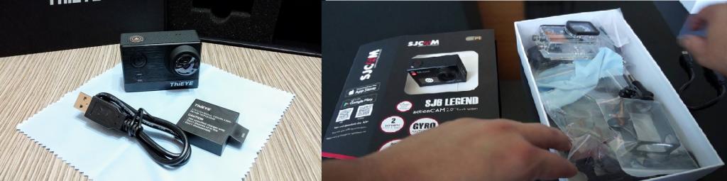 ThiEye T5e vs SJCam SJ6 Legend - Packaging