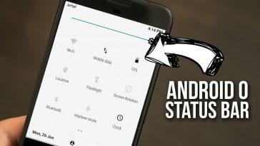 Get Android O Status Bar