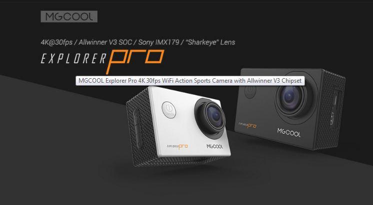 Deal] Get The MGCOOL Explorer Pro - 4K Action Camera for $34 99
