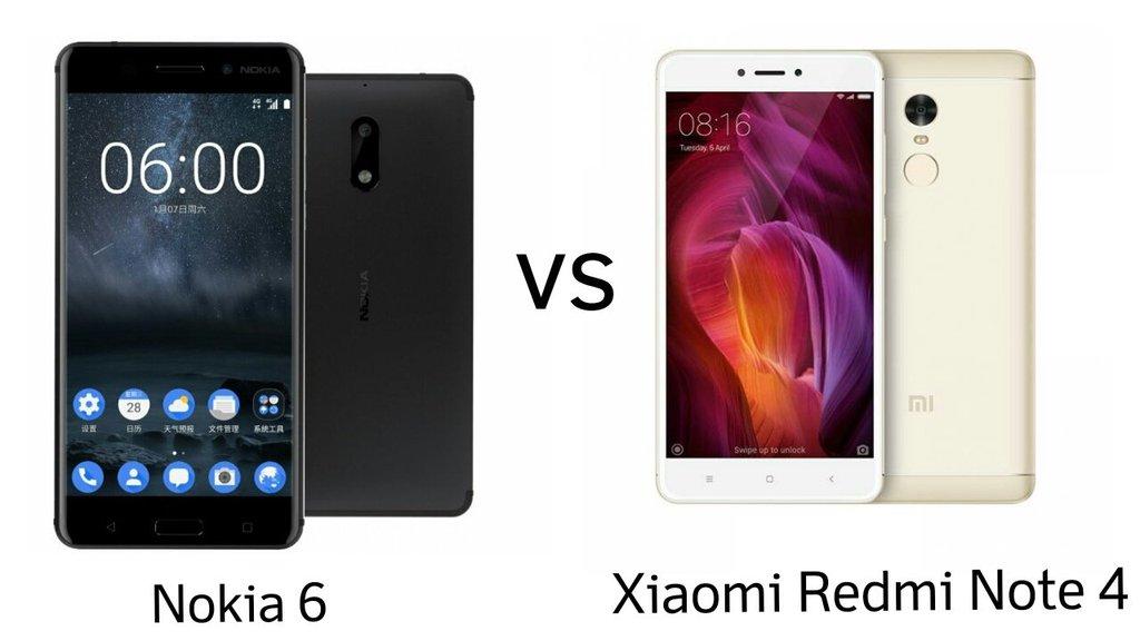 Xiaomi redmi note 4 vs nokia 6